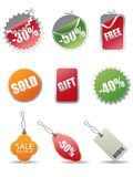Modern Sale Tags | Vector Illustration Stock Image