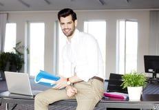 Modern sales man portrait Stock Image