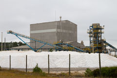 Modern salt refinery Stock Photos