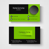 Modern sample green business card template Royalty Free Stock Images