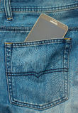 Modern SAMSUNG GALAXY NOTE in a denim pocket Royalty Free Stock Photography
