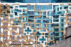 Modern samtida arkitekturfacade royaltyfri foto