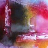 Modern samtida konst för abstrakt akryl med vit förgrund arkivbild