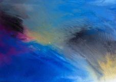 Modern samtida konst f?r abstrakt akryl som kraschar v?gor royaltyfri illustrationer