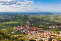 Modern San Marino Suburban districts view from above Royalty Free Stock Photo