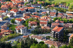 Modern San Marino Suburban districts view from above Stock Photos