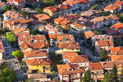 Modern San Marino Suburban districts view from above Stock Photo