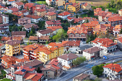 Modern San Marino Suburban districts view from above Stock Photography
