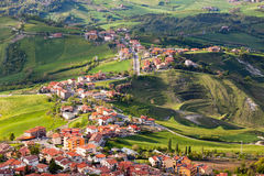 Modern San Marino Suburban districts view from above Stock Images