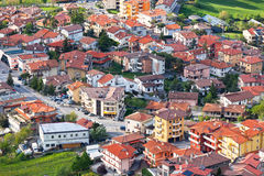 Modern San Marino Suburban districts view from above Stock Image