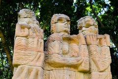Modern Sandstone Sculpture, Hyde Park, Sydney, Australia Stock Image