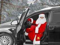 Modern Santa Claus - the driver Royalty Free Stock Photos
