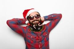 Modern Santa Claus Stock Images