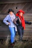 Modern Sassy Cowgirls Stock Image