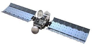 Modern satellite. Isolated on white background Royalty Free Stock Photos