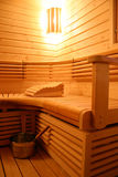Modern sauna interior Stock Photography