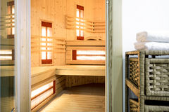 Modern sauna in the residence Royalty Free Stock Photography