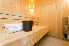 Modern Sauna Royalty Free Stock Photos