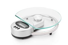 modern scale för digitalt kök arkivfoto