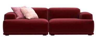 Modern scandinavian design sofa isolated on white backgroun royalty free illustration