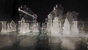 Modern schackuppsättning Royaltyfri Fotografi