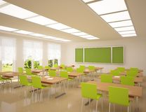Modern school apartment. With green furniture