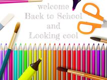 Modern school background with copyspace. EPS10 Royalty Free Stock Photos