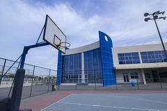 Modern School Basketball Courtyard Stock Photos