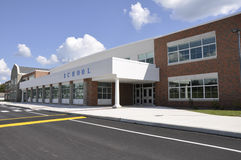 Modern school building Stock Images