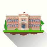 Modern school building, Royalty Free Stock Photos