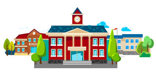 Modern school buildings exterior, student city concept  Stock Images