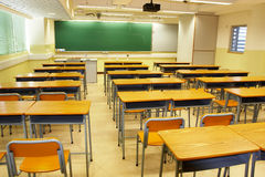 Modern school classroom Royalty Free Stock Photo