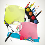 Modern school composition Royalty Free Stock Photography