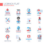 Modern school and education thin line design icons, pictograms Stock Photography