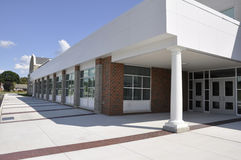 Modern school entrance stock image