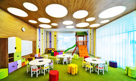 Modern school interior . Royalty Free Stock Image