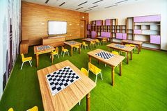 Modern school interior . Royalty Free Stock Photos