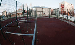Modern school playground photo taken on fisheye Royalty Free Stock Image