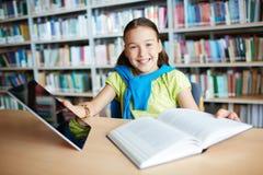 Modern schoolgirl Stock Image