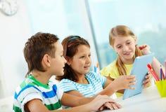 Modern schoolwork royalty free stock image
