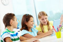 Modern schoolwork Royalty Free Stock Photo