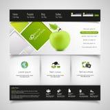 Modern Schoon Groen Bedrijfswebsitemalplaatje Stock Afbeelding