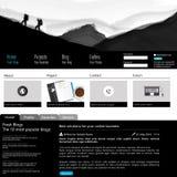Modern Schoon Websitemalplaatje Royalty-vrije Stock Afbeelding