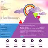 Modern Schoon Websitemalplaatje Stock Foto