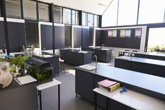 Modern science classroom in an elementary school Royalty Free Stock Photography