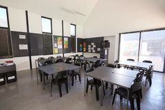 Modern science classroom in an elementary school Stock Images