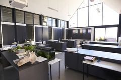 Modern science classroom in an elementary school Stock Image