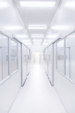 Modern science lab room opened door with lighting from outside Stock Photos
