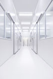 Modern science lab room opened door with lighting from outside Stock Image