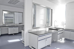 Modern science laboratory Stock Images
